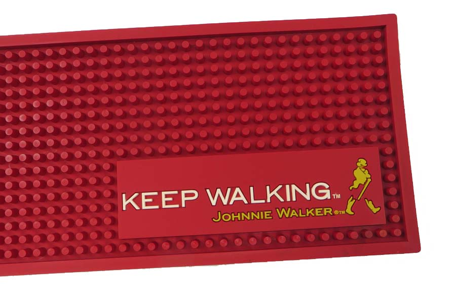 Red Rubber Bar Drink Mats