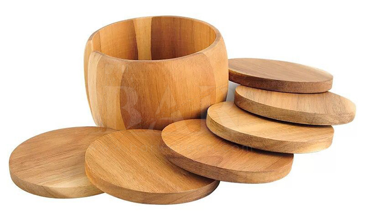 6 Pieces Bamboo Coasters